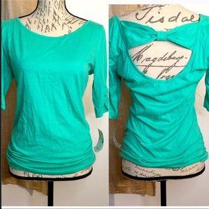 NWT Mint Green Bow back Shirt